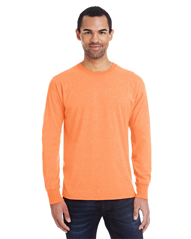 Hanes 42L0 Neon Orange Hthr