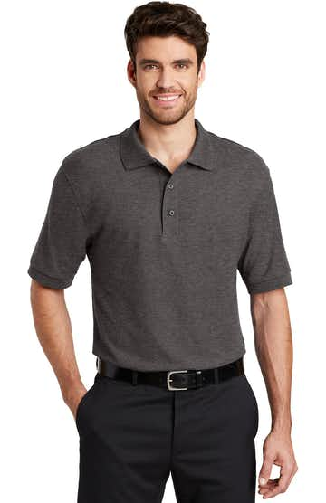 Port Authority K500 Charcoal Heather Gray