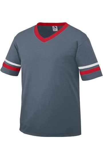 Augusta Sportswear 360 Graphite/Red/White