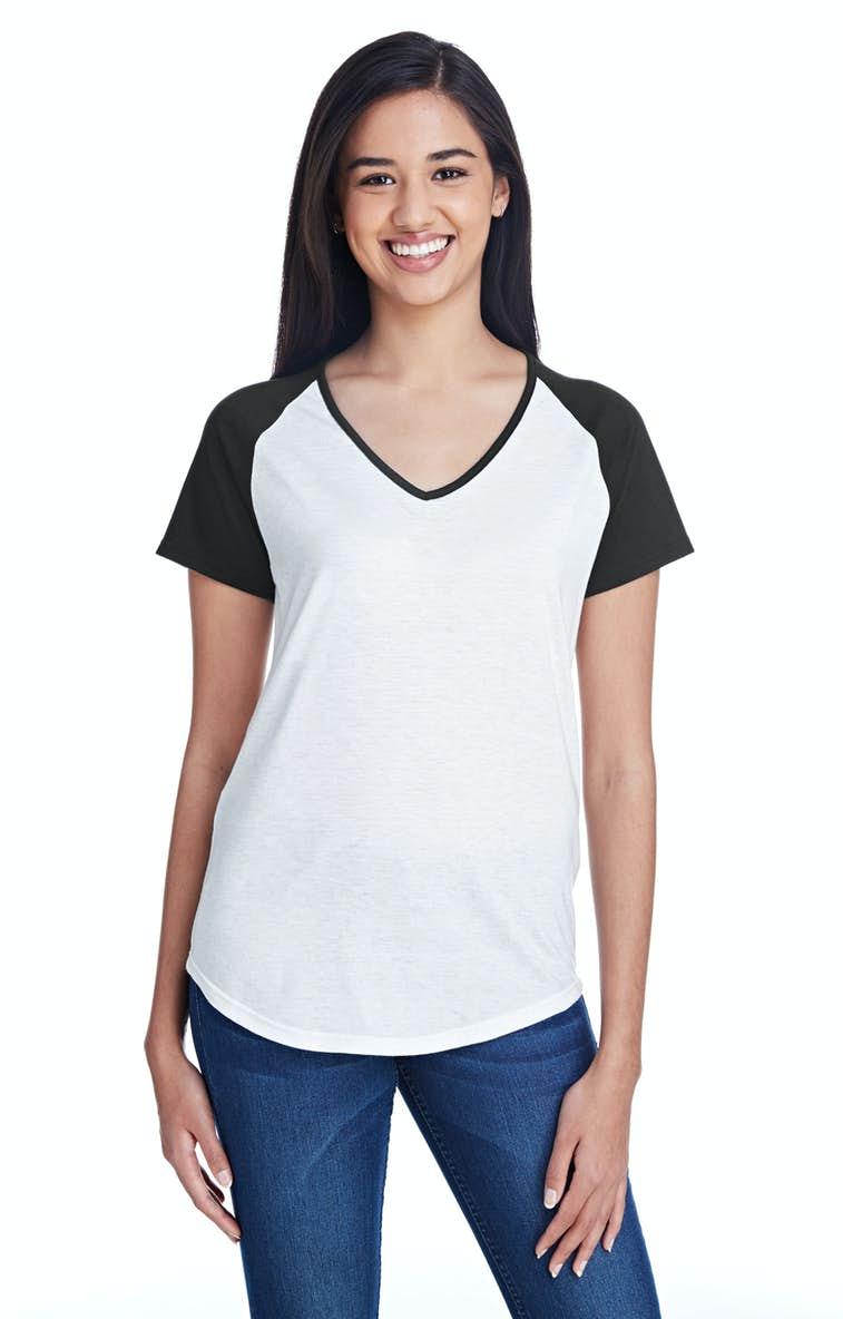 bd385c52 Anvil 6770VL Ladies' Tri-Blend Raglan T-Shirt - JiffyShirts.com
