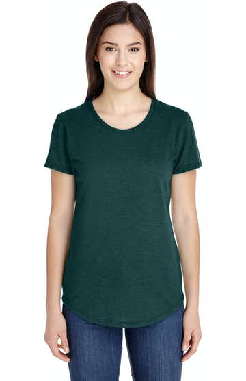 Anvil 6750L Heather Dark Green