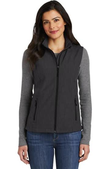 Port Authority L325 Black Charcoal Heather