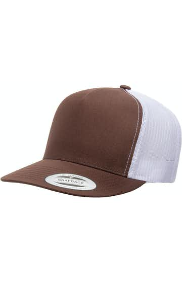 Yupoong 6006 Brown/ White