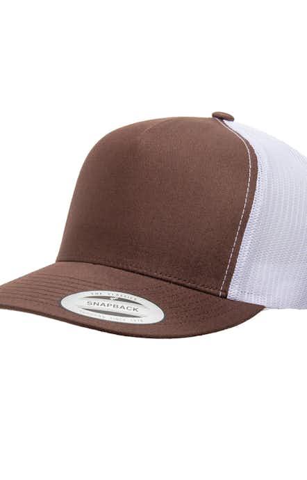 Yupoong 6006 Brown/ White