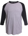 Tultex 0245TC Heather Grey/Black