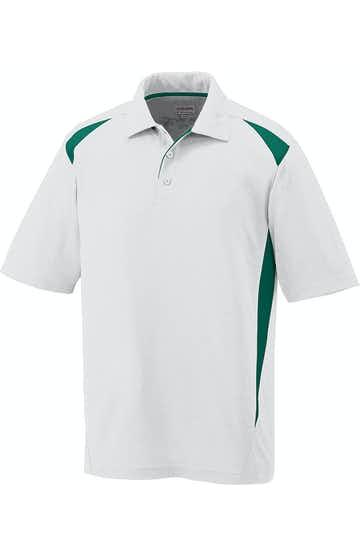 Augusta Sportswear 5012 White/Dark Green