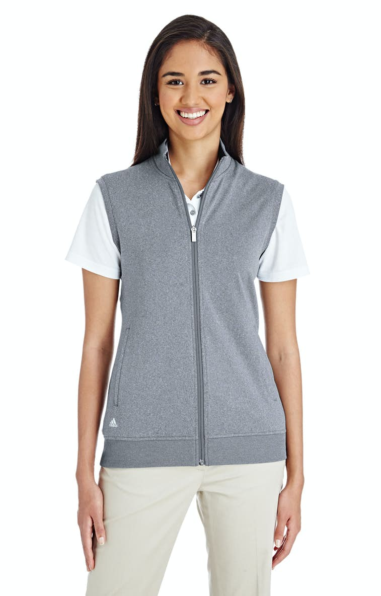 bc7c1a803a57a Adidas A272 Ladies' Full-Zip Club Vest - JiffyShirts.com