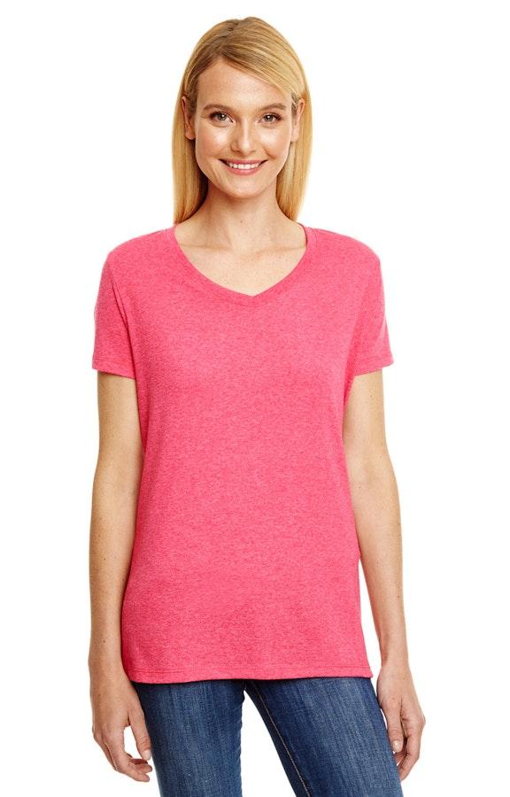8f300949 Hanes 42VT Ladies' X-Temp® Triblend V-Neck T-Shirt - JiffyShirts.com