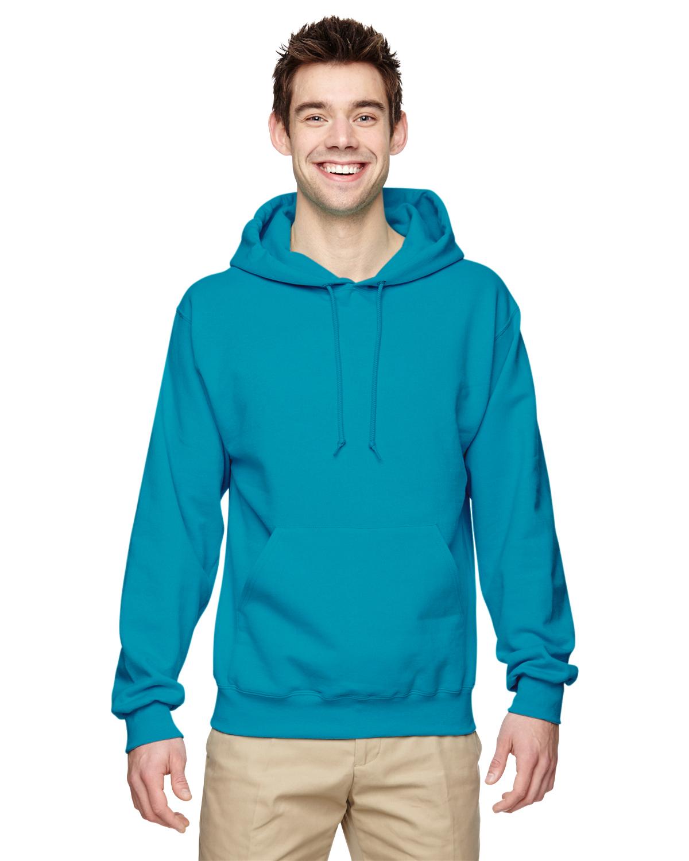 NuBlend 50//50 Pullover Hood Jerzees 8 oz Kiwi Large