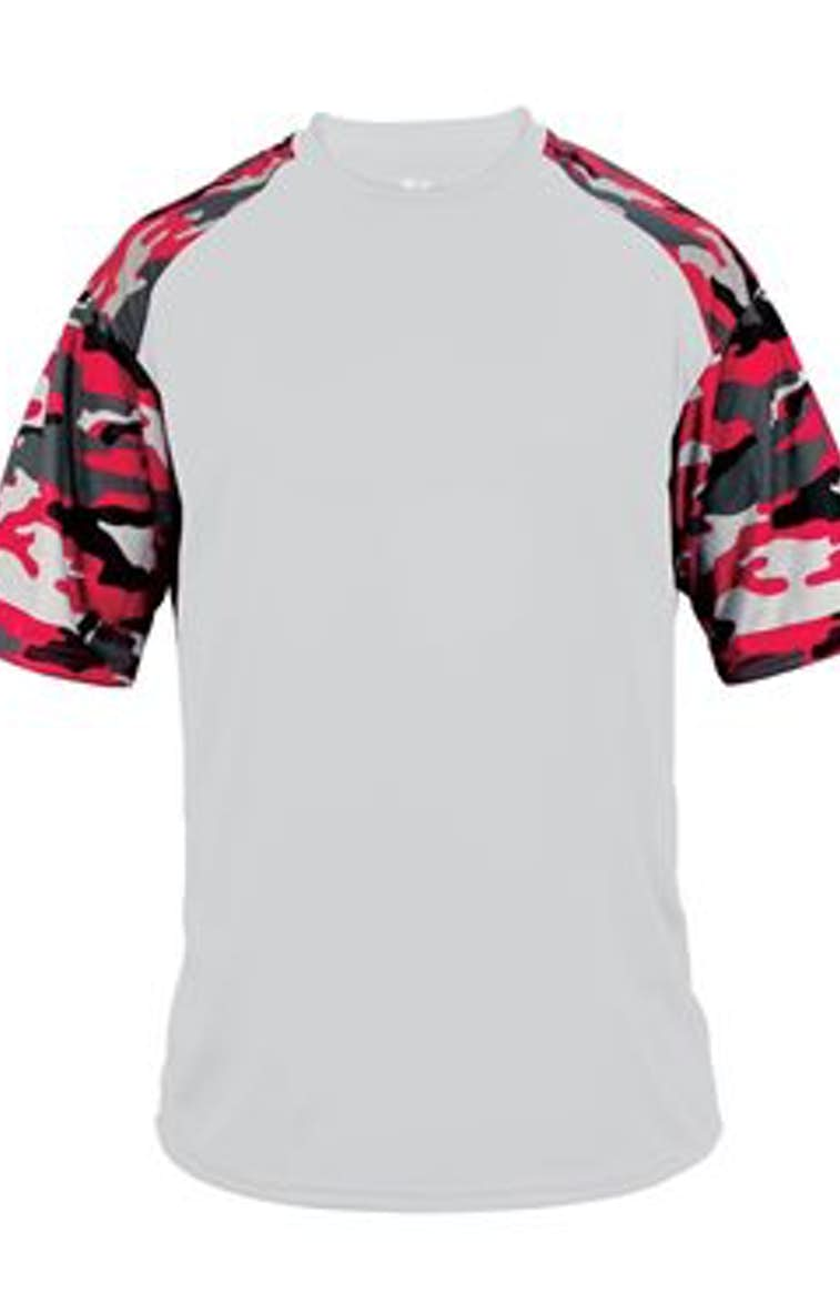 81a16ce0b Badger 2141 Youth Camo Colorblock Short-Sleeve T-Shirt - JiffyShirts.com