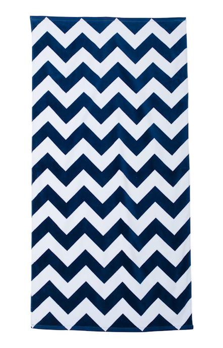 Carmel Towel Company C3060 Navy Chevron