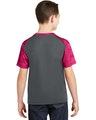 Sport-Tek YST371 Iron Gray / Pink Ra