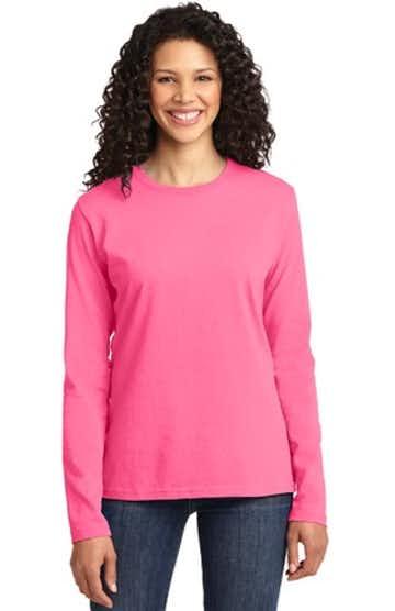 Port & Company LPC54LS Neon Pink