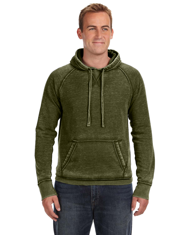 J America JA8915 Cement Adult Vintage Zen Fleece Pullover Hood
