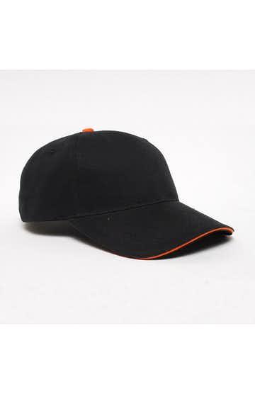 Pacific Headwear 0121PH Black/Orange