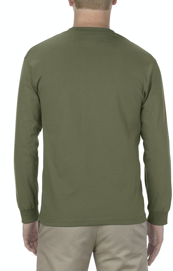 b59894fde779 Alstyle AL1904 Adult 5.1 oz., 100% Soft Spun Cotton Long-Sleeve T-Shirt -  JiffyShirts.com