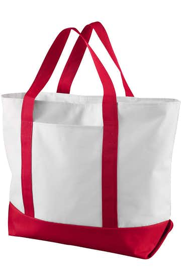 Liberty Bags 7006 White/Red