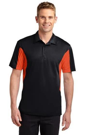 Sport-Tek ST655 Black / Deep Orange