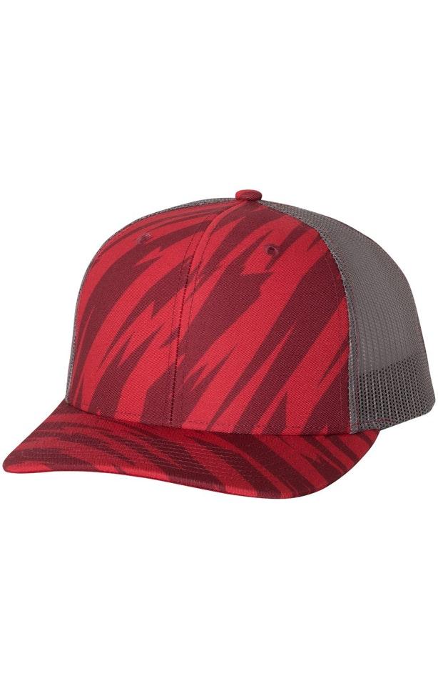 Richardson 112P Streak Red/ Charcoal