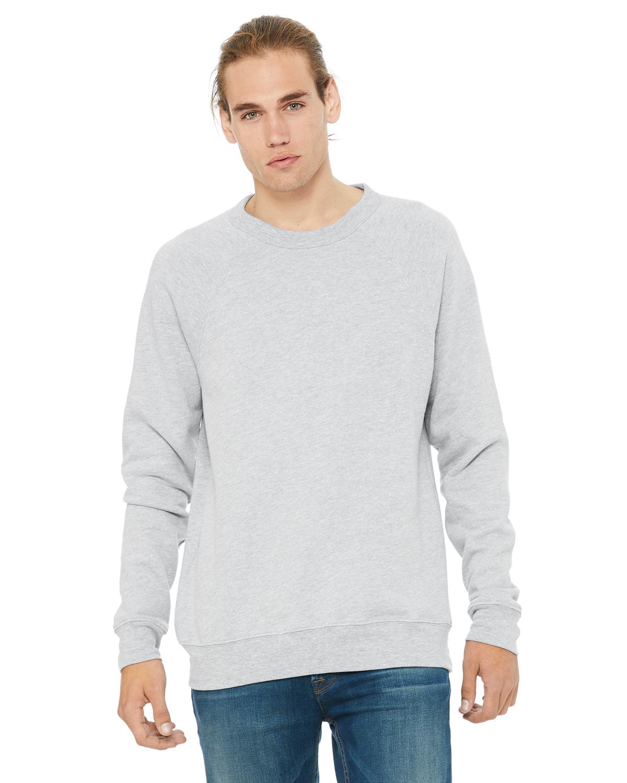 Canvas Unisex Soft Sponge Fleece Tri-blend Sweatshirt crew neck 4 Colours