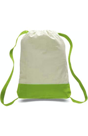 Q-Tees Q125700 Natural/Lime