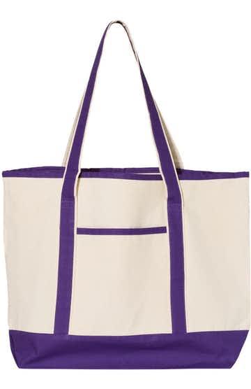 Q-Tees Q1500 Natural/ Purple