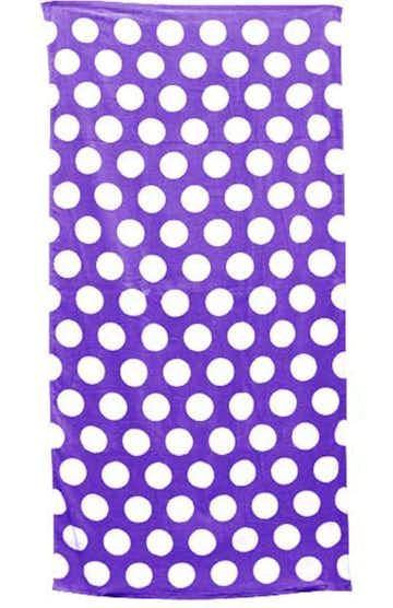 Carmel Towel Company C3060 Purple Polka Dot