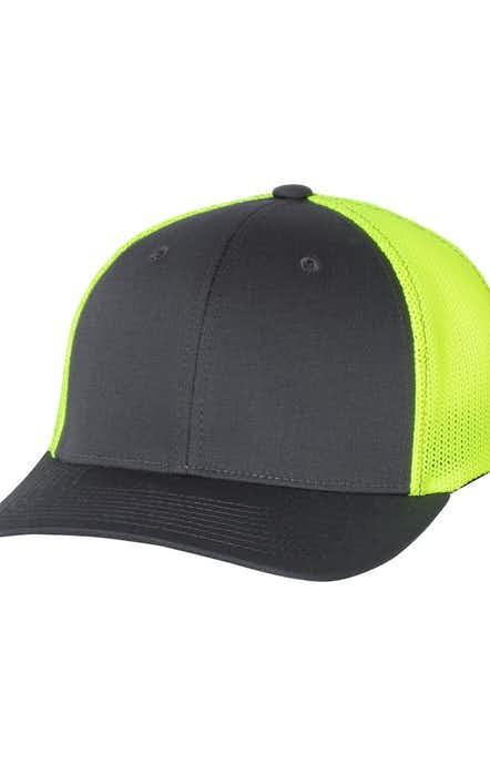 Richardson 110 Charcoal/ Neon Yellow