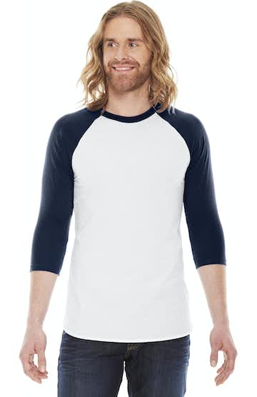 American Apparel BB453 White/Navy