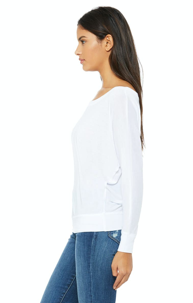 744a6b257dfb Bella+Canvas 8850 Ladies  Flowy Long-Sleeve Off Shoulder T-Shirt ...