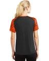 Sport-Tek LST371 Black / Neon Orange