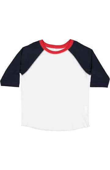 Rabbit Skins RS3330 White/ Navy/ Red