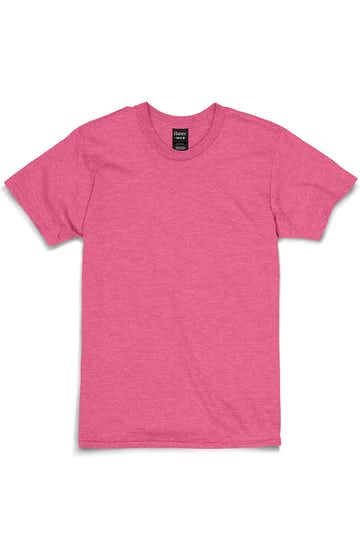 Hanes 4980 WOW PINK HEATHER
