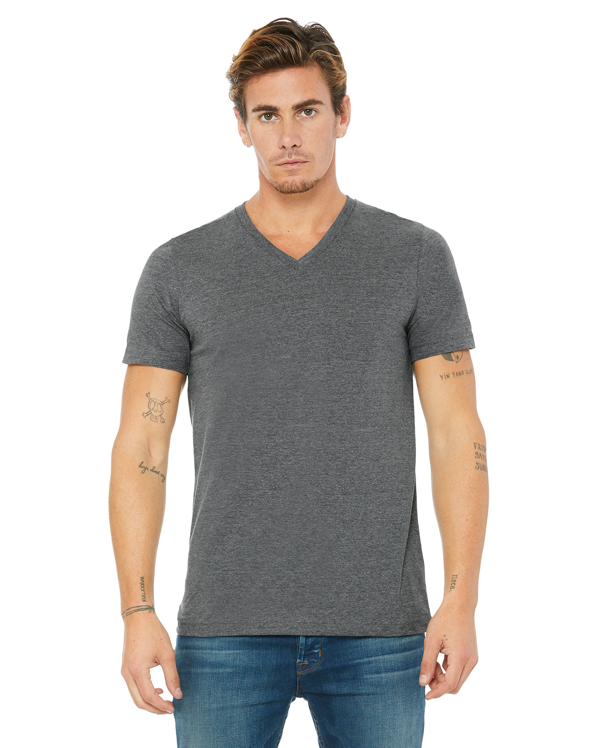 Bella Canvas 3005 Unisex V-Neck Ultra Soft Cotton XS-XL 45 COLORS TO PICK FROM