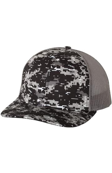 Richardson 112P Black Digital Camo/ Charcoal