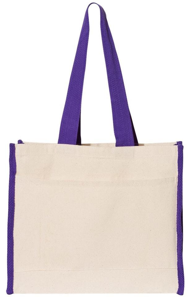 Q-Tees Q1100 Natural / Purple