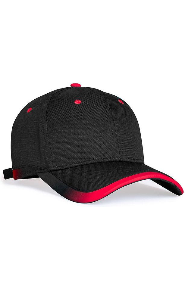 Pacific Headwear 0416PH Black/Red