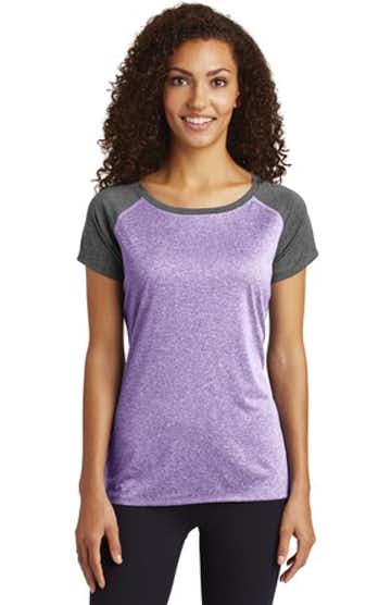 Sport-Tek LST362 Purple Heather / Graphite Heather