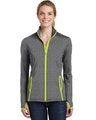 Sport-Tek LST853 Charcoal Gray Heather / Charge Green