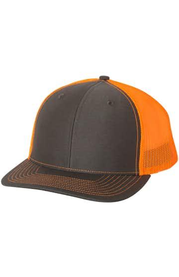 Richardson 112 Charcoal / Neon Orange