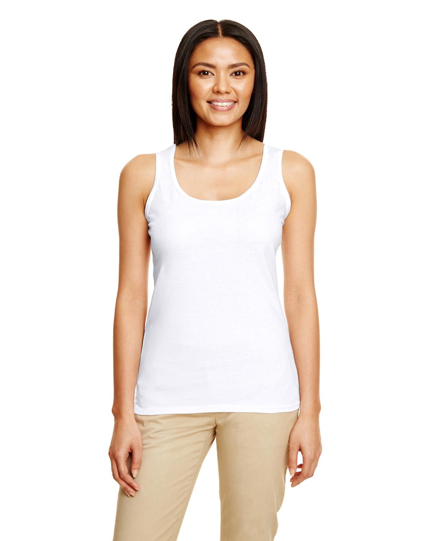 Gildan SoftStyle Women/'s Racerback Tank Top Shirt Blank Plain 645R2L up to 3XL