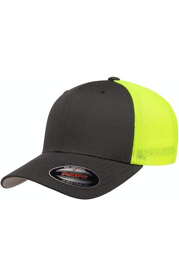 Flexfit 6511 Charcoal/ Neon Yellow