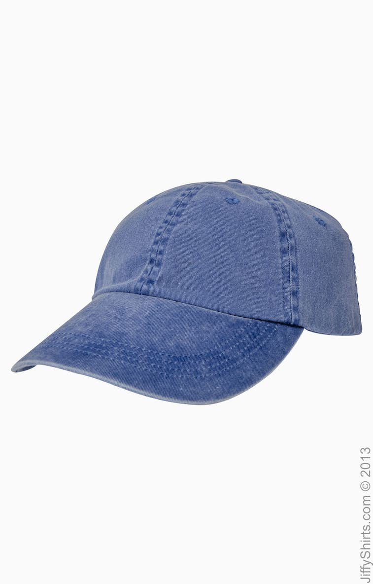 9257ac101536c Anvil 145 Adult Solid Low-Profile Pigment-Dyed Cap - JiffyShirts.com