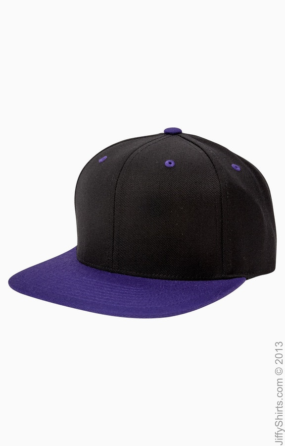 Yupoong 6089 Black/Purple