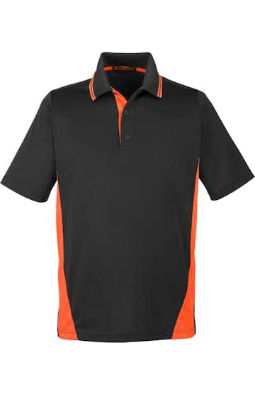 Harriton M386 Black / Tm Orange