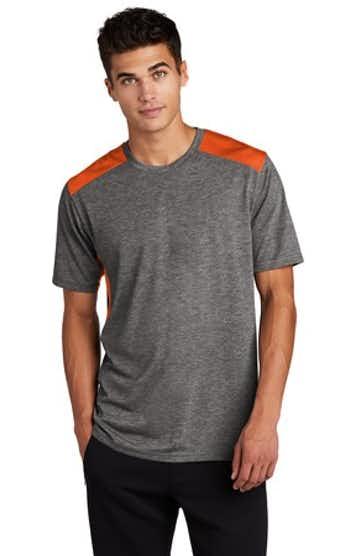 Sport-Tek ST410 Deep Orange / Dark Gray He