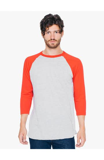 American Apparel BB453W Hthr Grey/ Red