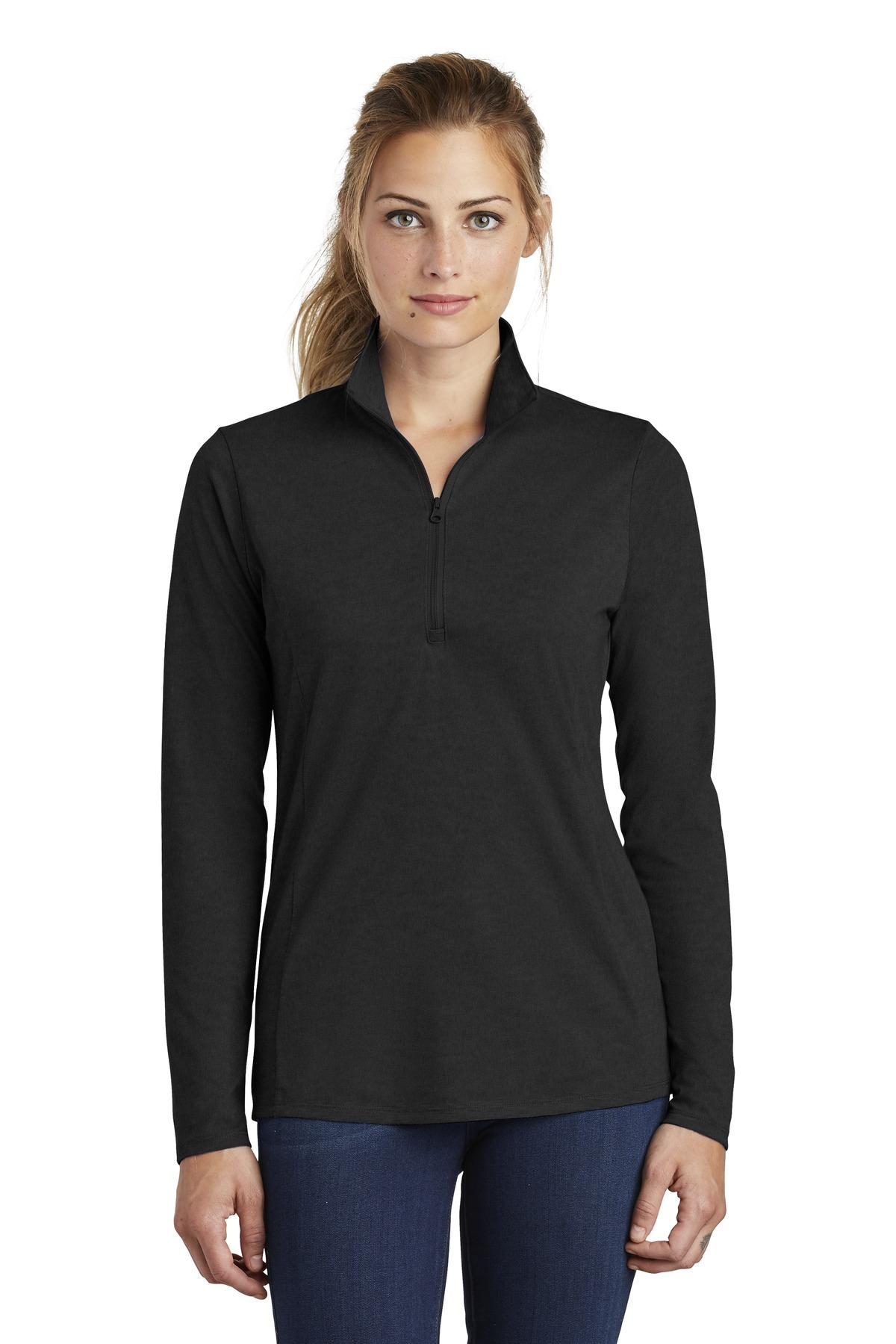 Sport Tek Lst407 Black Triad So Ladies Posicharge Tri Blend Wicking 1 4 Zip Pullover Choose from sleeveless, short sleeve, 3/4 sleeve. https www jiffyshirts com sporttek lst407 html ac black triad so