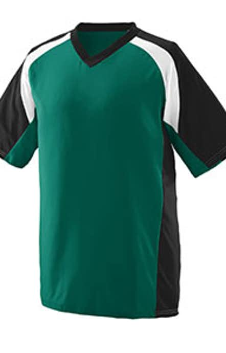 Augusta Sportswear 1535 Dark Green/Black/White