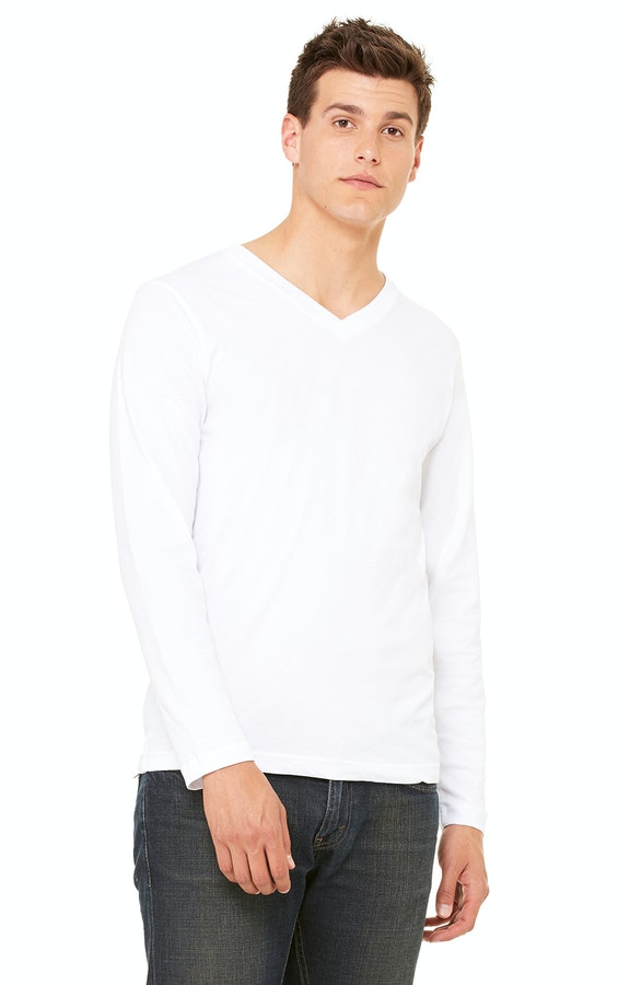 27e198161ec Bella+Canvas 3425 Unisex Jersey Long-Sleeve V-Neck T-Shirt - JiffyShirts.com